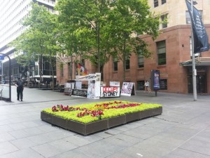 """Occupy Sydney"", photographed in Martin Place, October 2012"